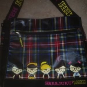 Harajuku Plaid Messenger Book Bag BackPack By Gwen